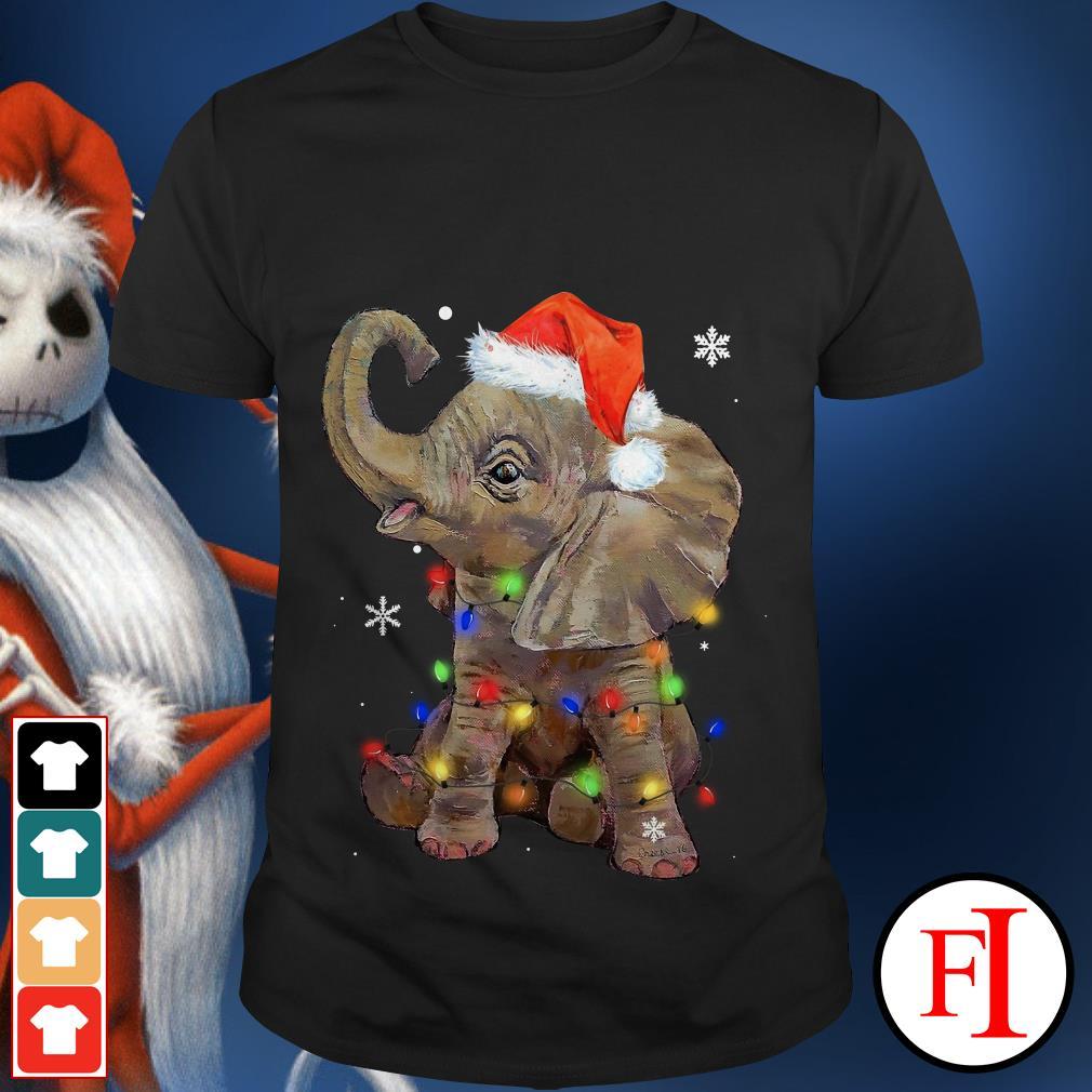 Light Christmas Elephant String shirt