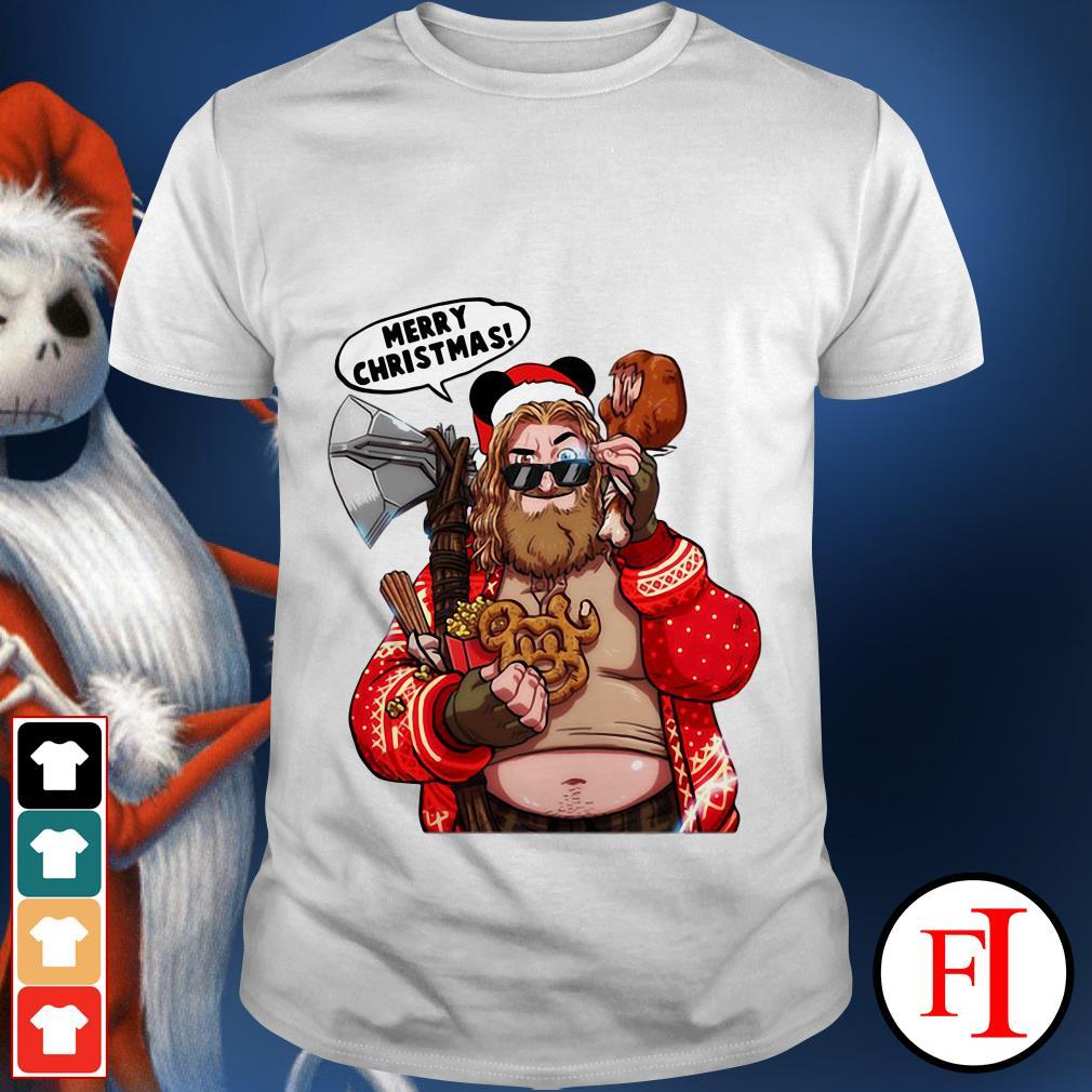 Merry Christmas The Big Lebowski Thor Santa shirt