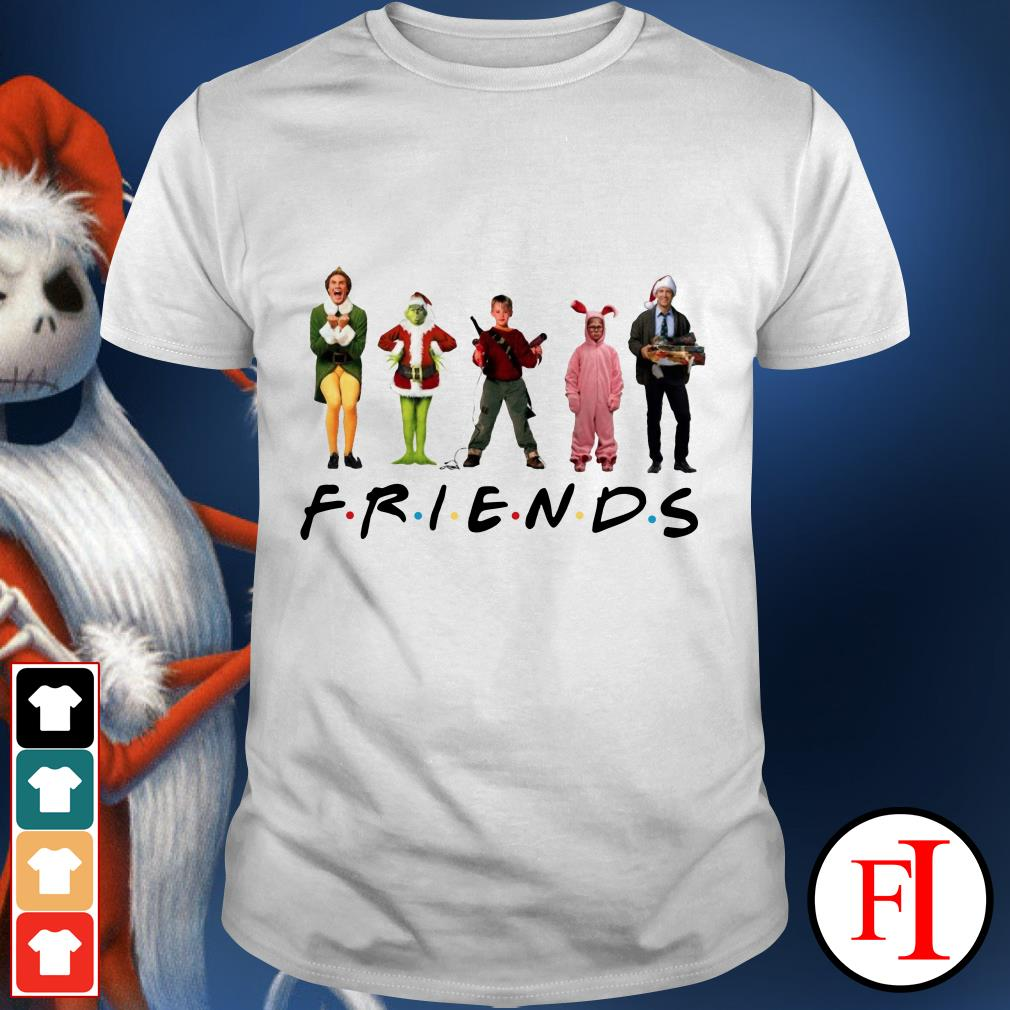 Merry Christmas Characters Elf Grinch Kevin Friends shirt