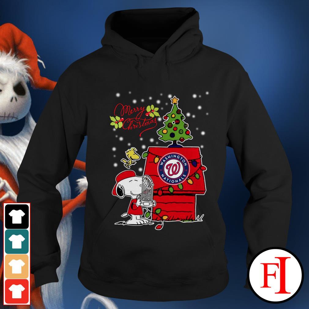 Merry Christmas ugly sweat Snoopy Washington Nationals Hoodie