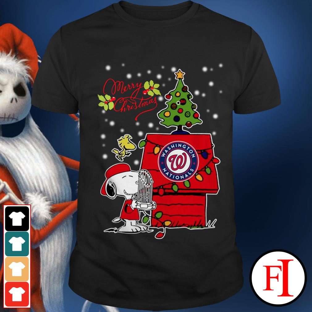 Merry Christmas ugly sweat Snoopy Washington Nationals Shirt