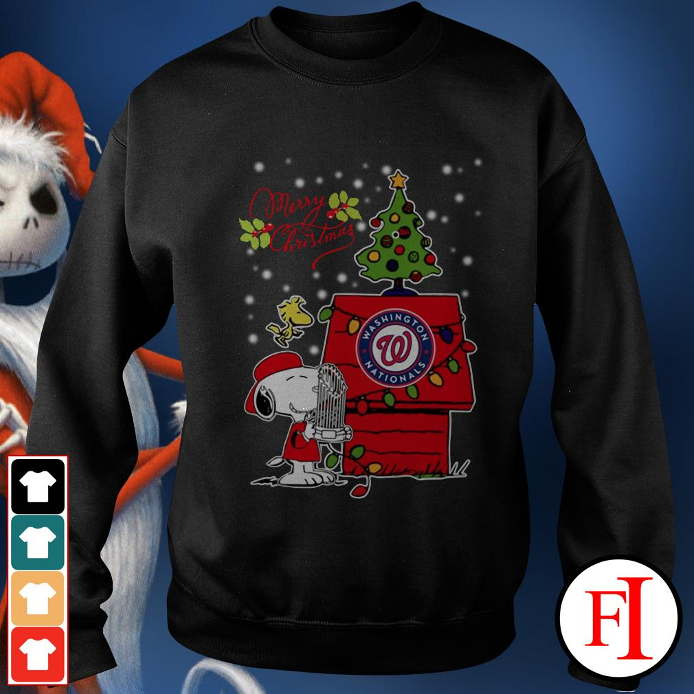 Merry Christmas ugly sweat Snoopy Washington Nationals Sweater