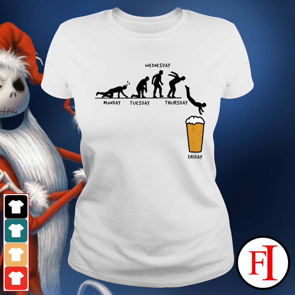 Monday Tuesday Wednesday Thursday Friday Beer Ladies Tee