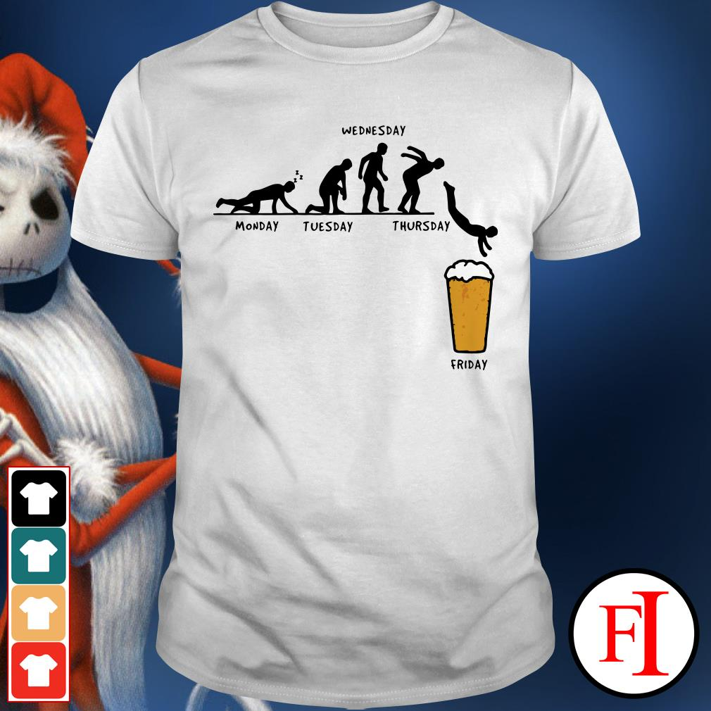 Monday Tuesday Wednesday Thursday Friday Beer Shirt