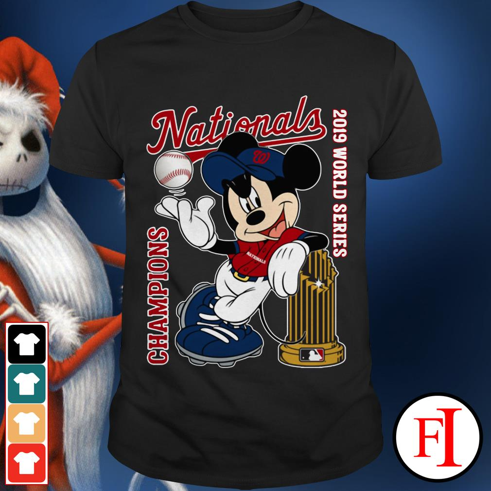 Nationals 2019 World Series Champions Mickey Mouse Washington Shirt
