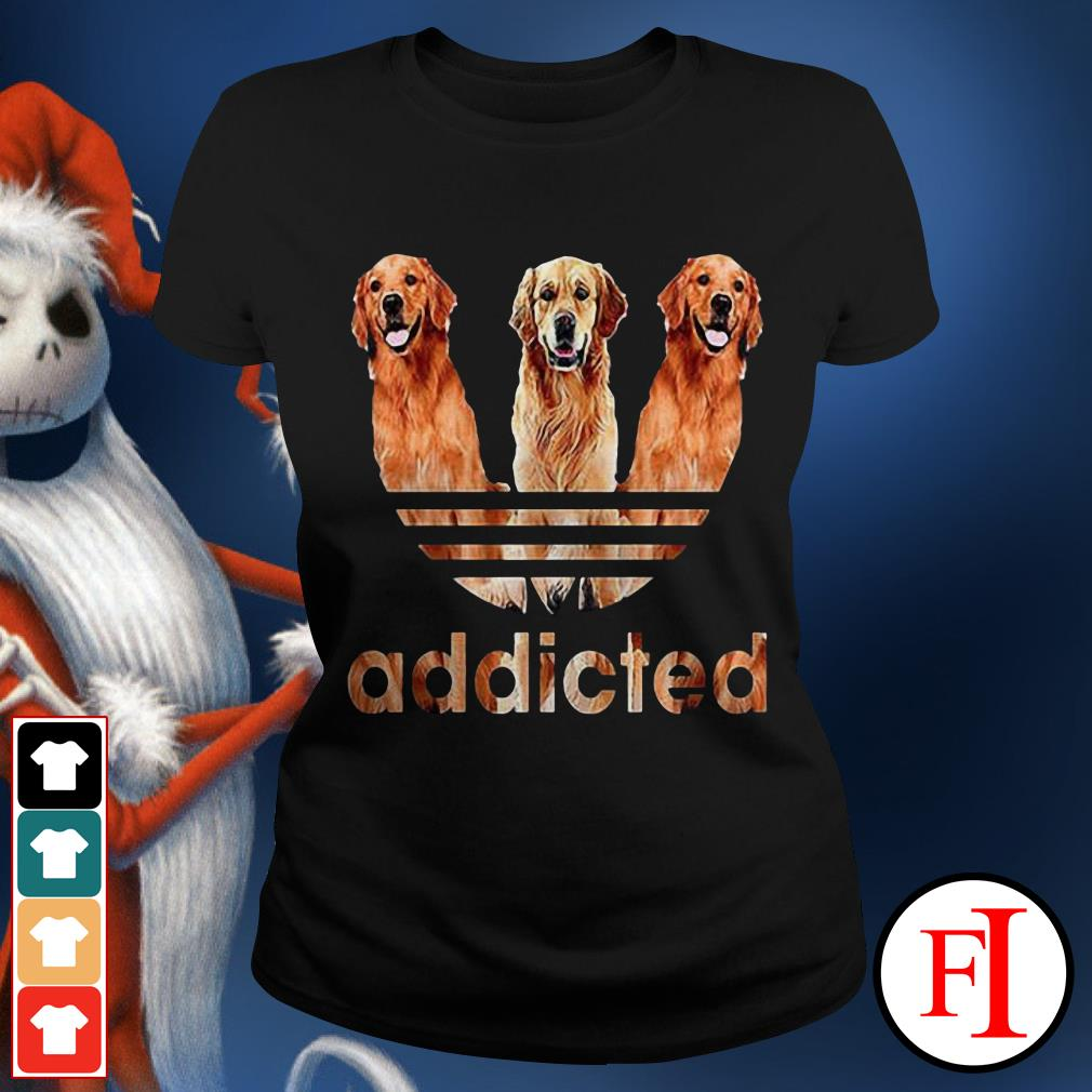 Official Adidas Golden Retriever addicted Ladies Tee