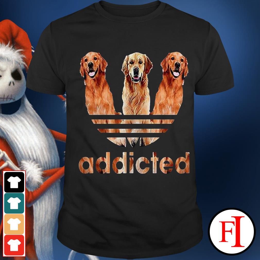 Official Adidas Golden Retriever addicted Shirt