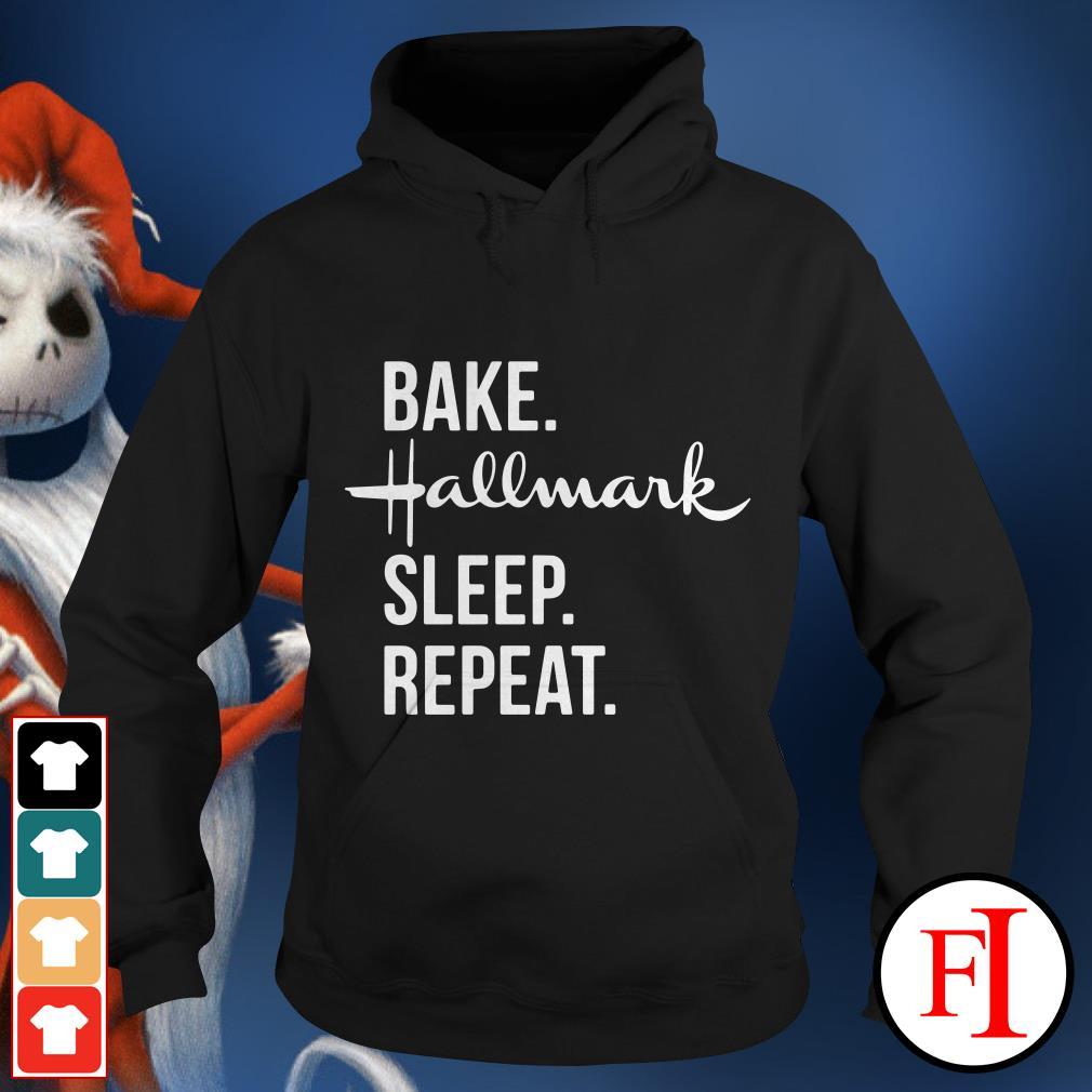Official Bake Hallmark sleep repeat Hoodie