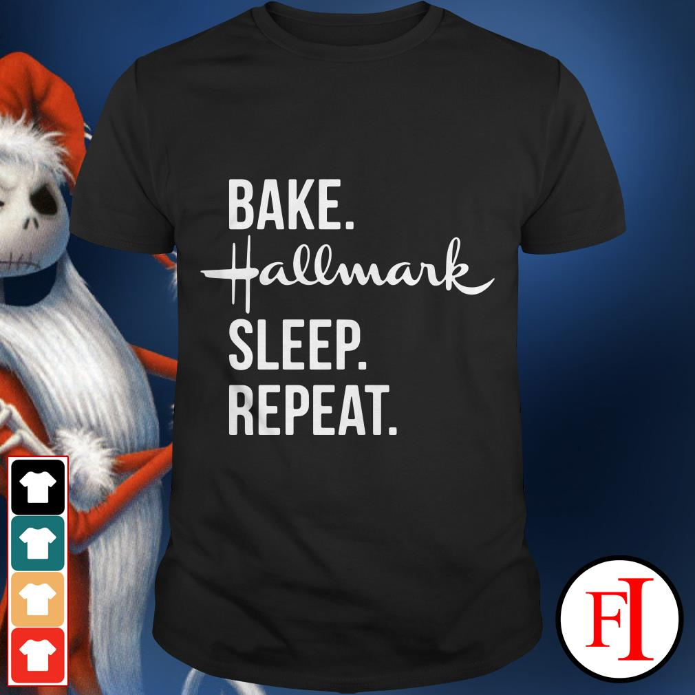 Official Bake Hallmark sleep repeat shirt