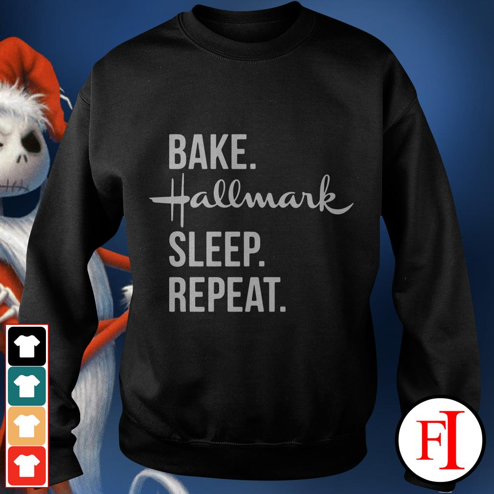 Official Bake Hallmark sleep repeat Sweater