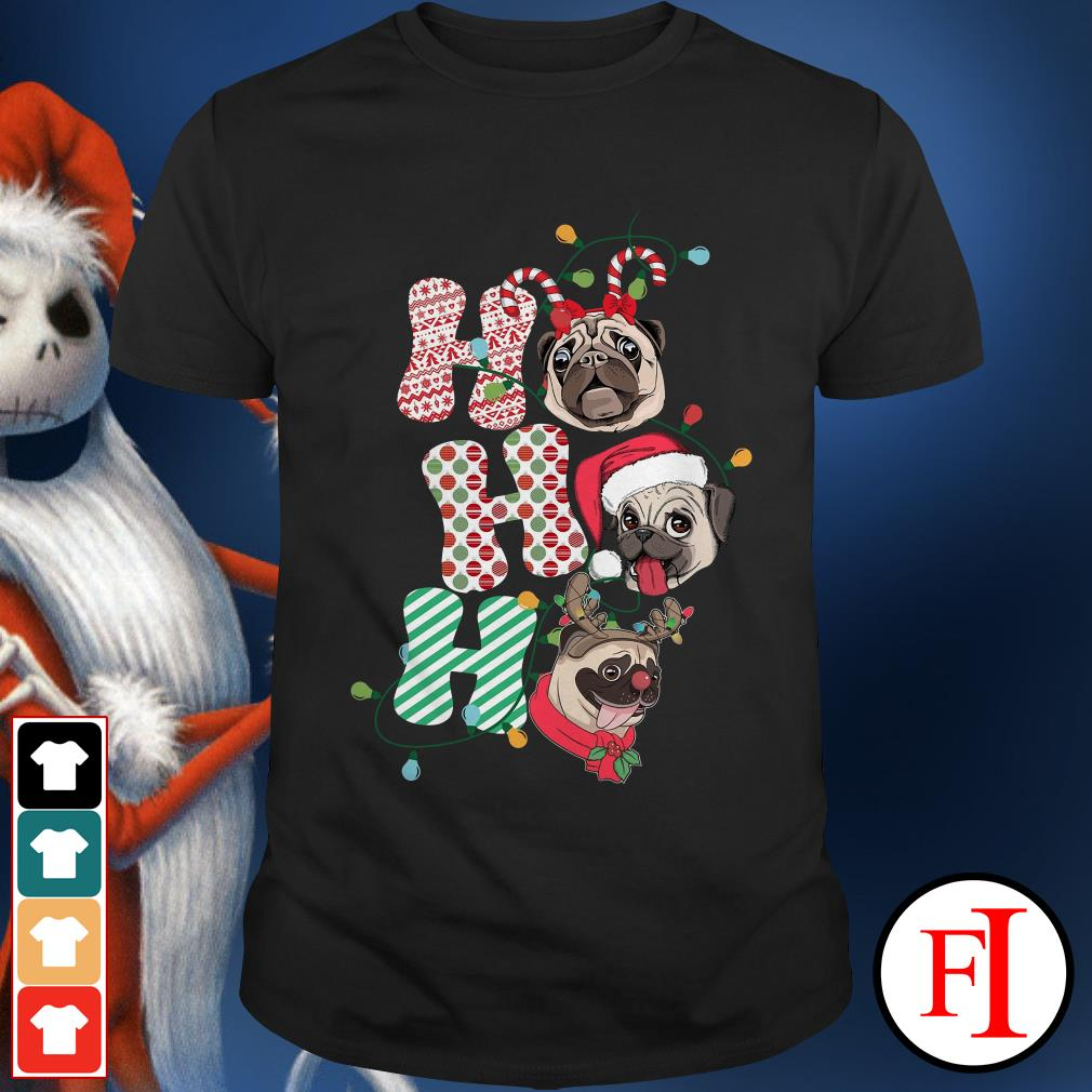 Official Christmas pug dog ho ho ho ugly sweat Shirt