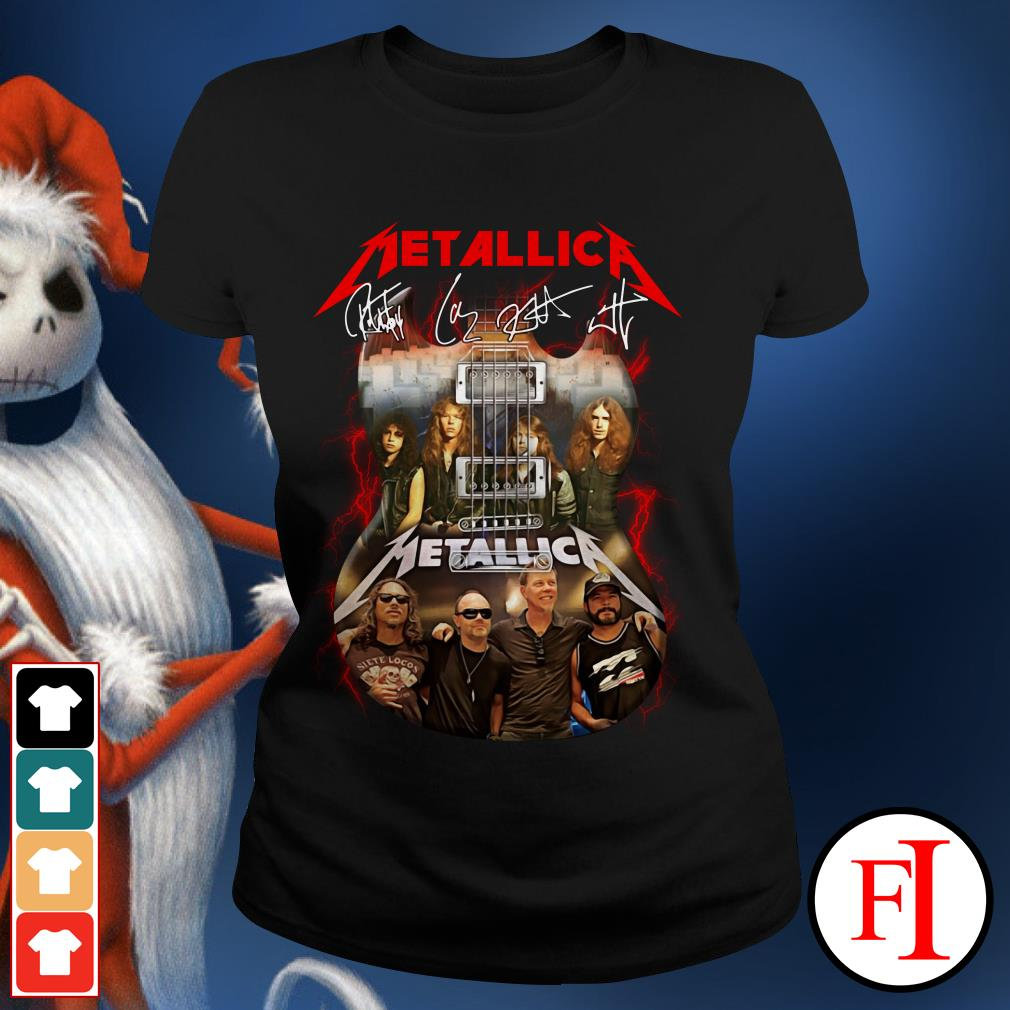 Official Guitar Metallica signatures Ladies Tee