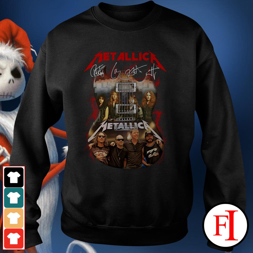 Official Guitar Metallica signatures Sweater