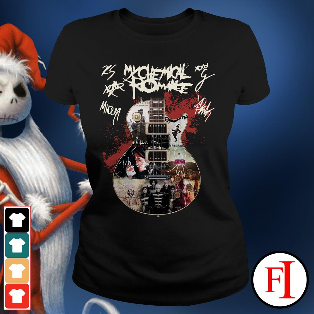 Official Guitar My Chemical Romance signatures Ladies Tee