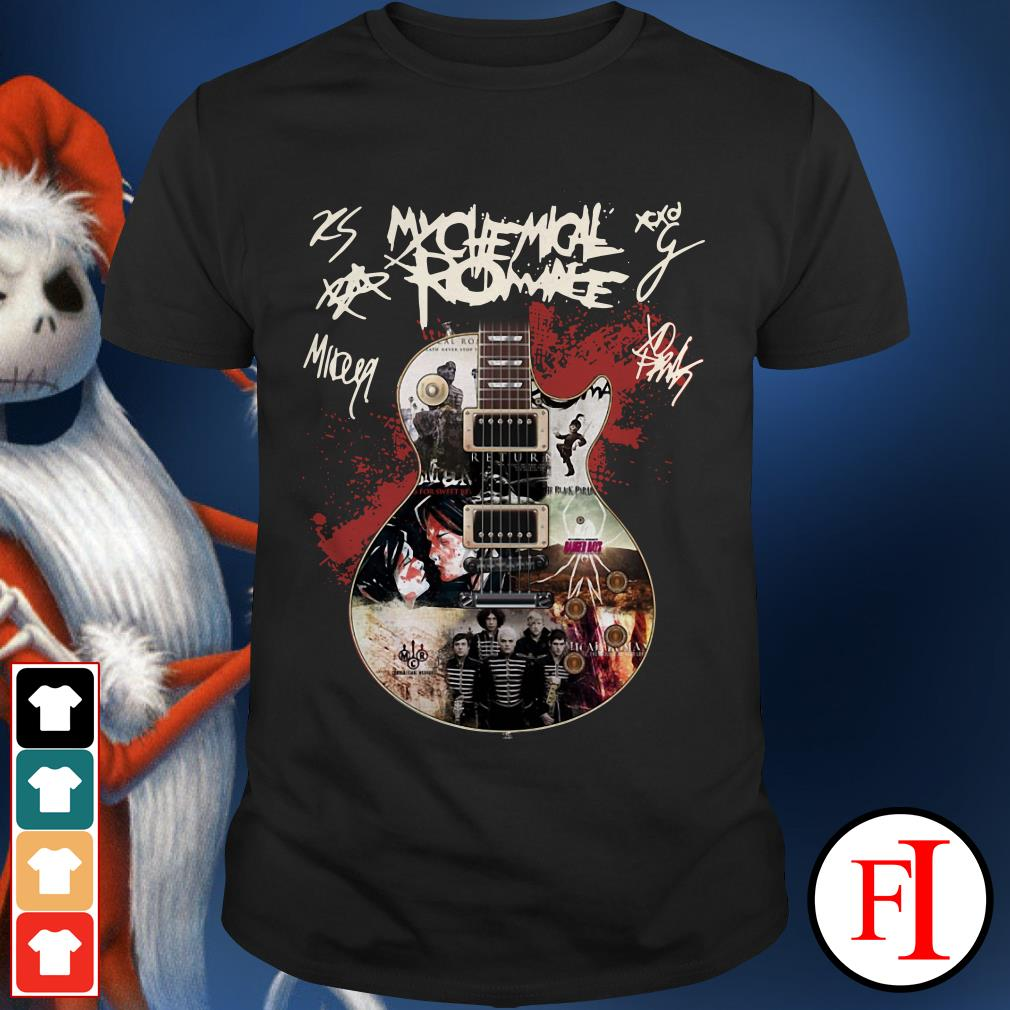 Official Guitar My Chemical Romance signatures Shirt