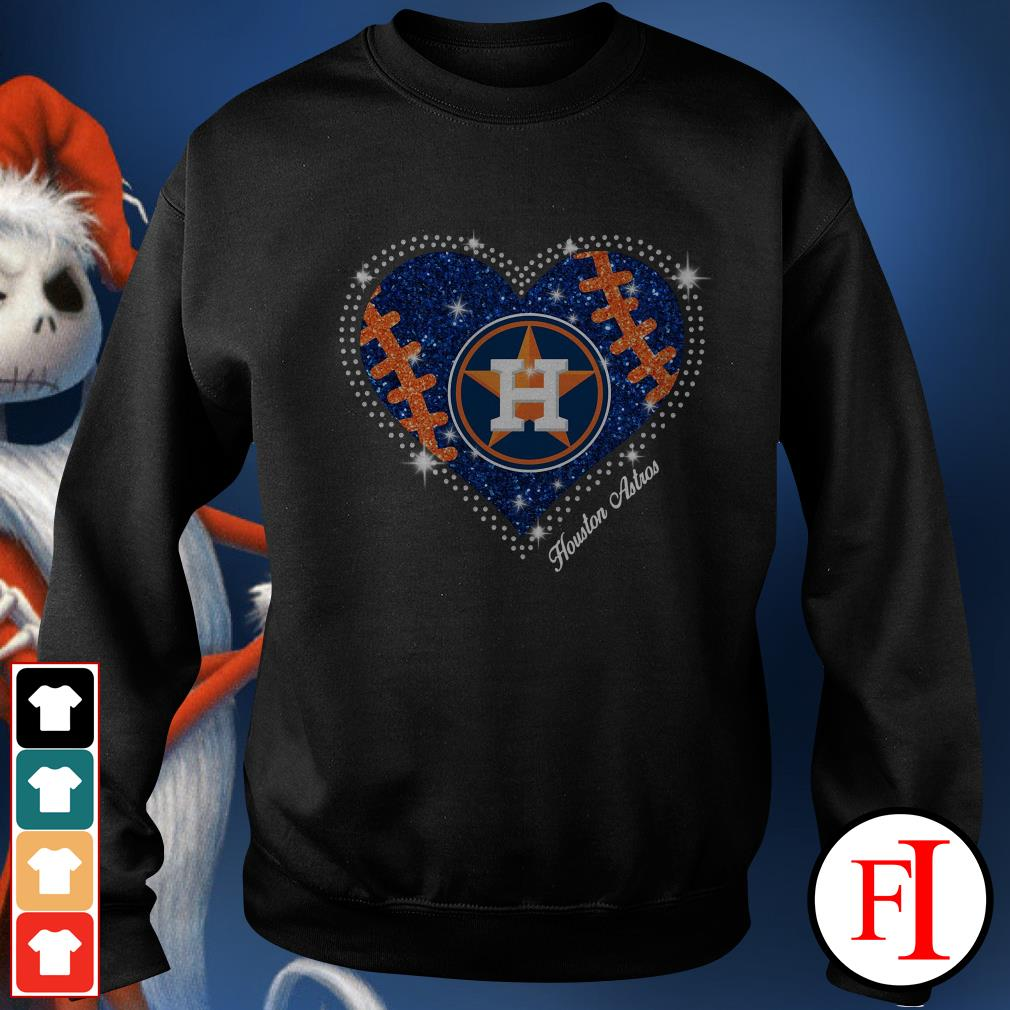 Official Houston Astros baseball heart Sweater