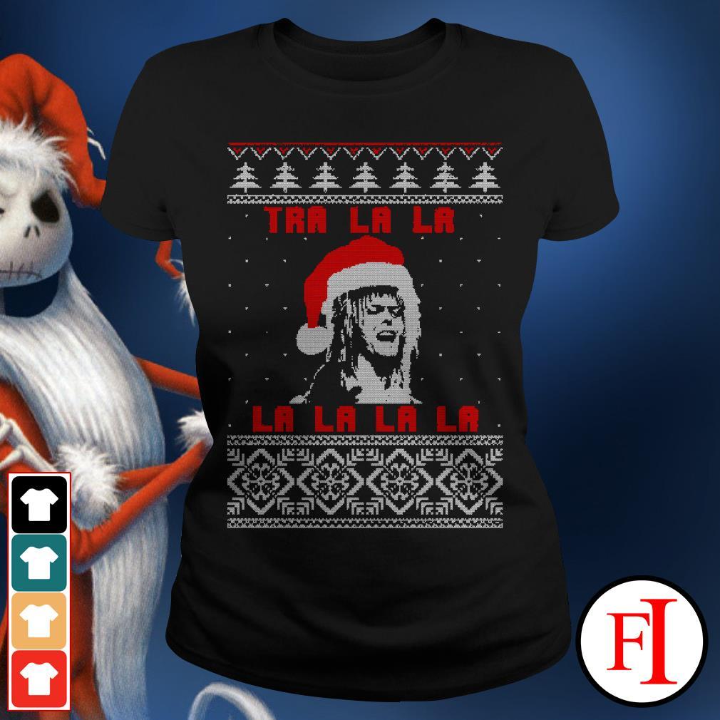 Official Jareth Labyrinth Tra La La La ugly Christmas Ladies Tee