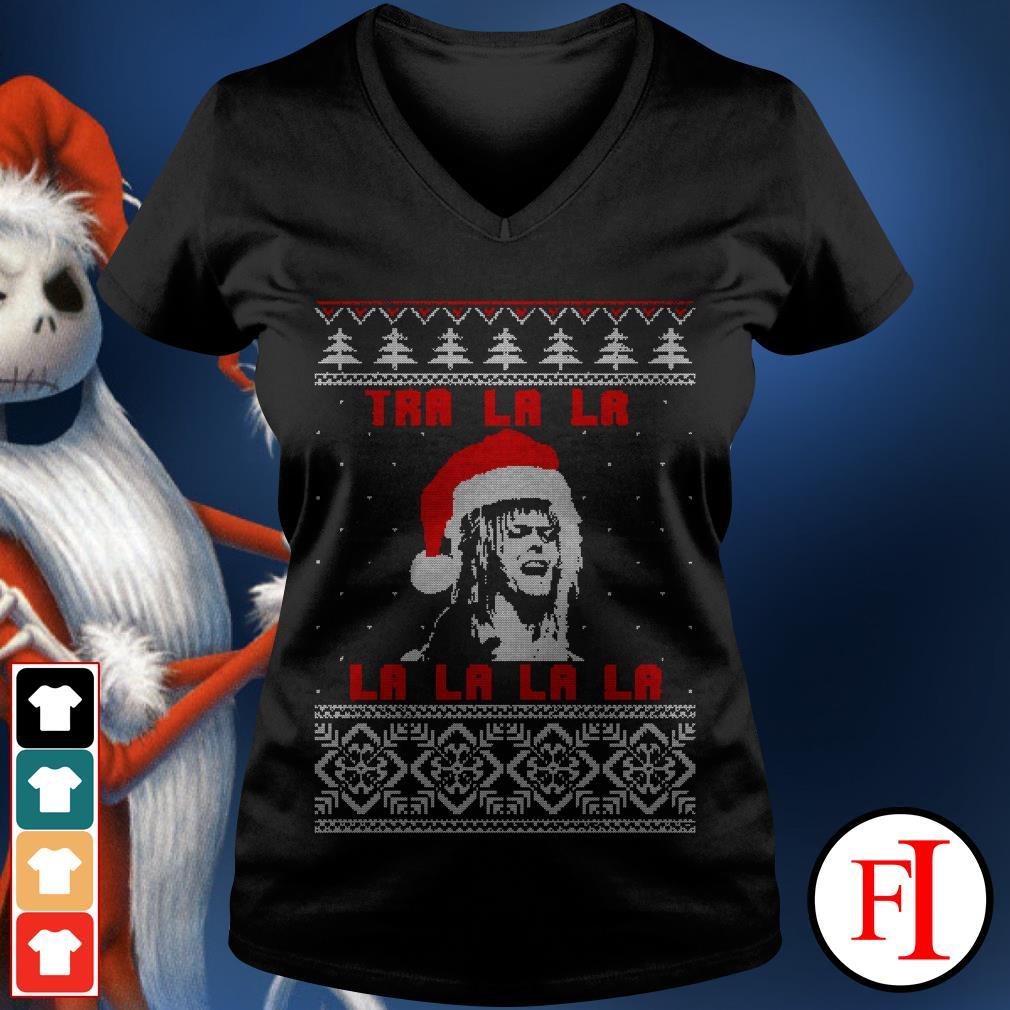 Official Jareth Labyrinth Tra La La La ugly Christmas Shirt