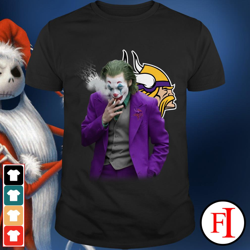 Official Joker Joaquin Phoenix Minnesota Vikings Shirt