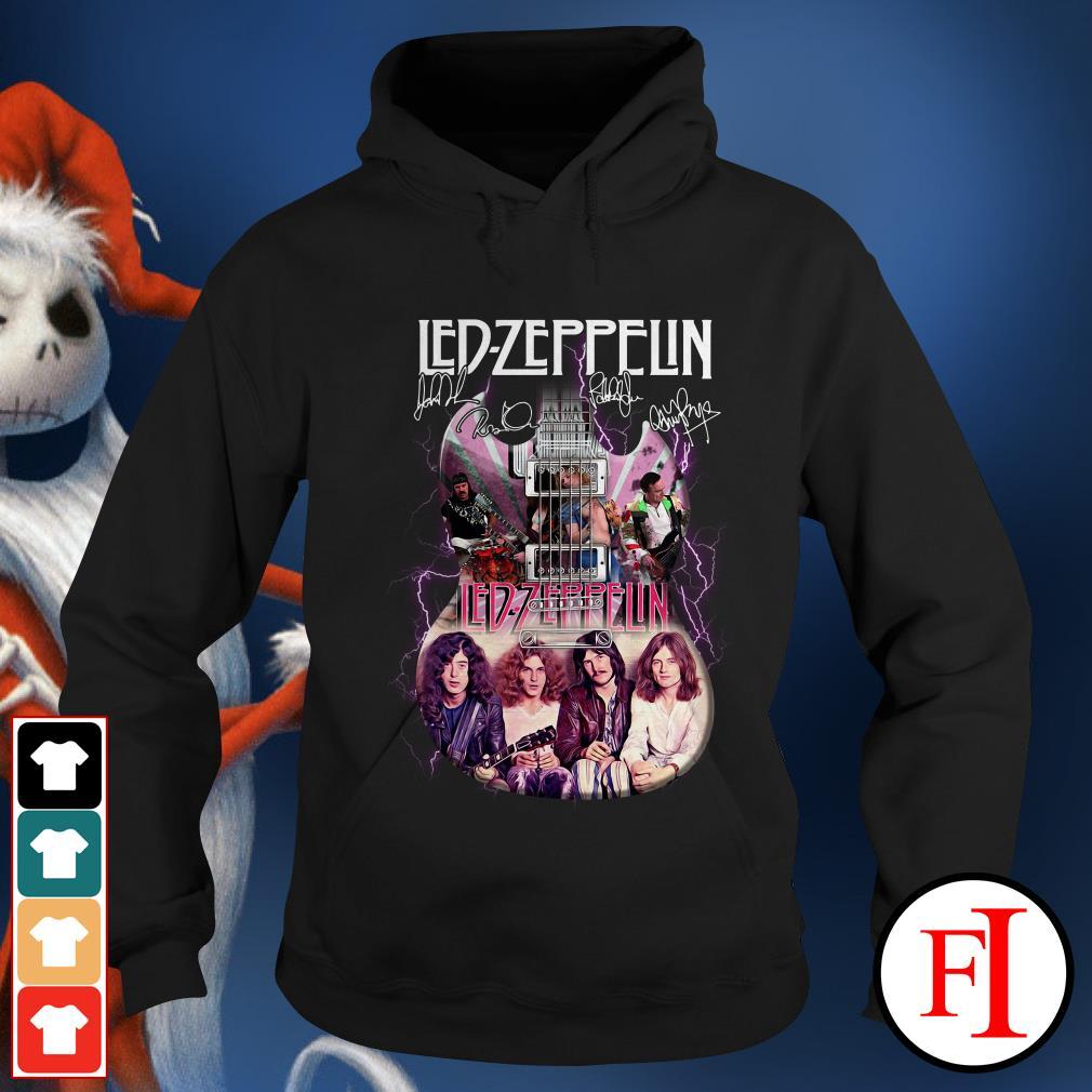 Official Led Zeppelin guitarist signatures Hoodie