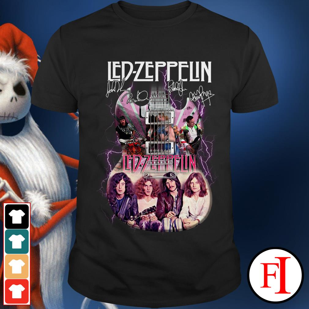 Official Led Zeppelin guitarist signatures Shirt