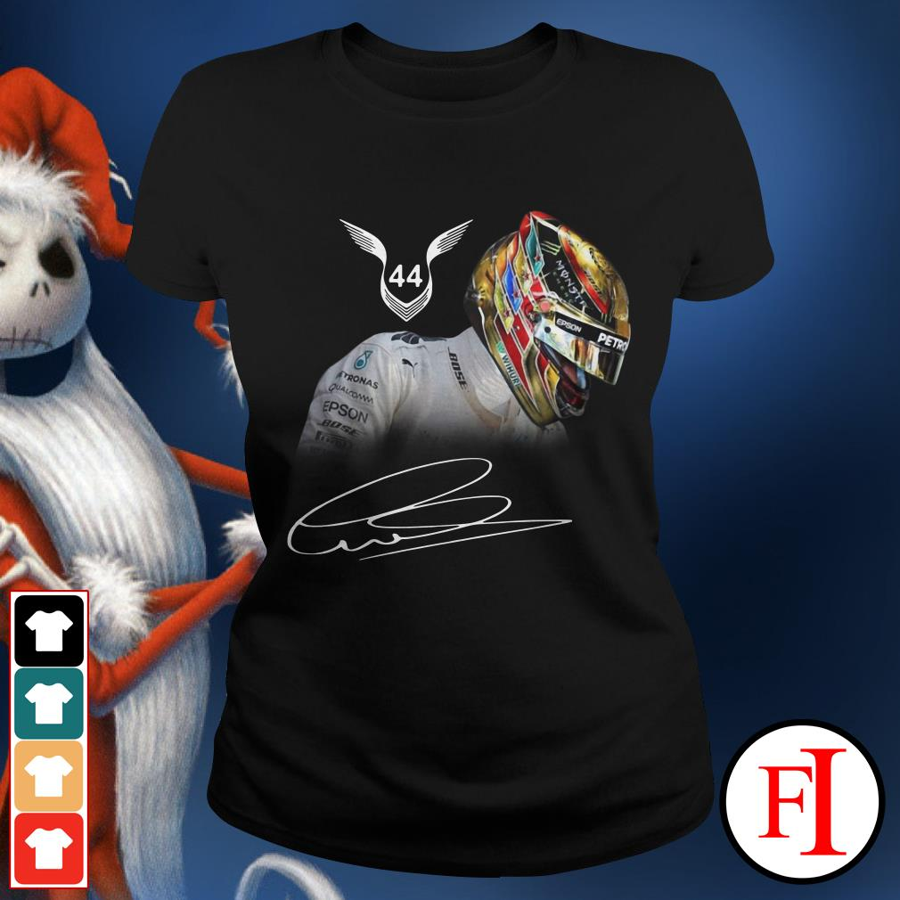 Official Lewis Hamilton 44 signature Ladies Tee