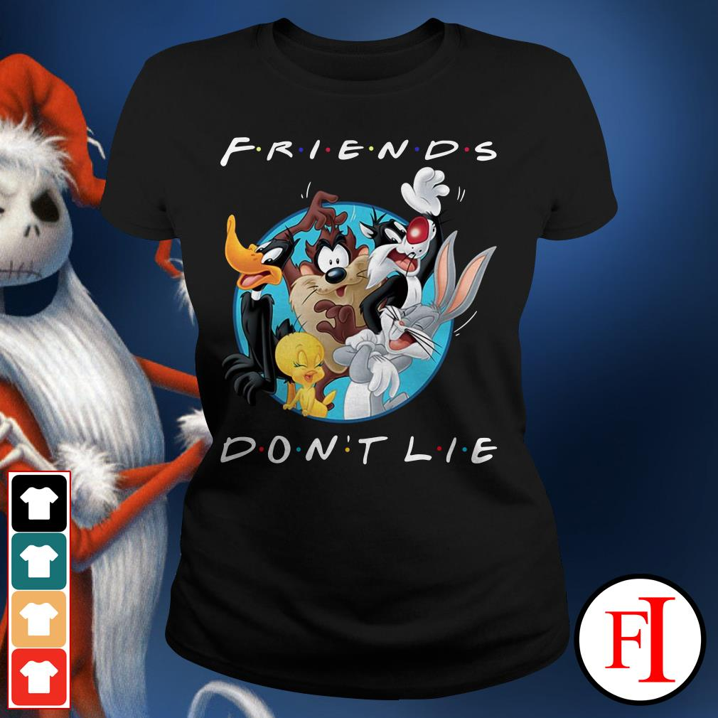 Official Looney tunes friends don't lie Ladies Tee
