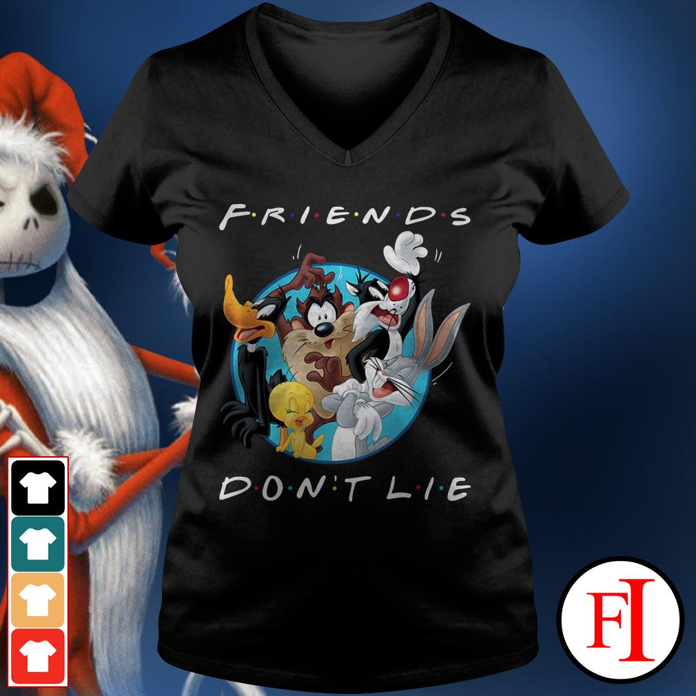 Official Looney tunes friends don't lie V-neck t-shirt