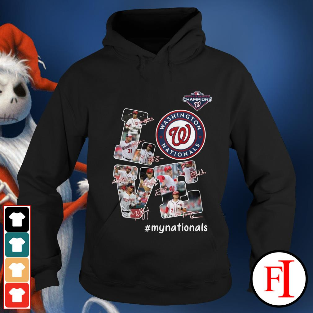 Official Love Washington Nationals my Nationals signatures Hoodie