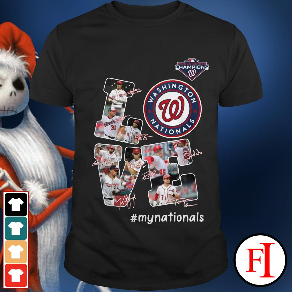 Official Love Washington Nationals my Nationals signatures Shirt