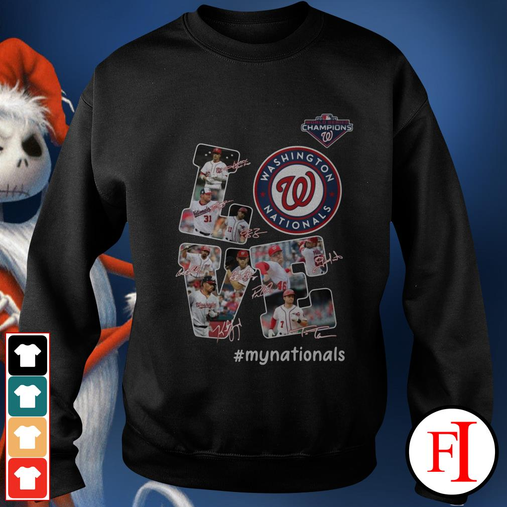 Official Love Washington Nationals my Nationals signatures Sweater