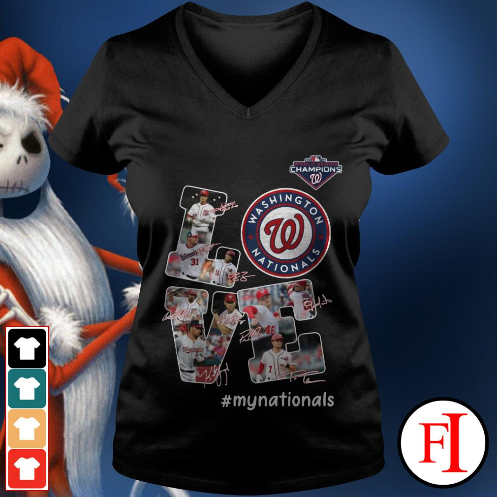 Official Love Washington Nationals my Nationals signatures V-neck t-shirt