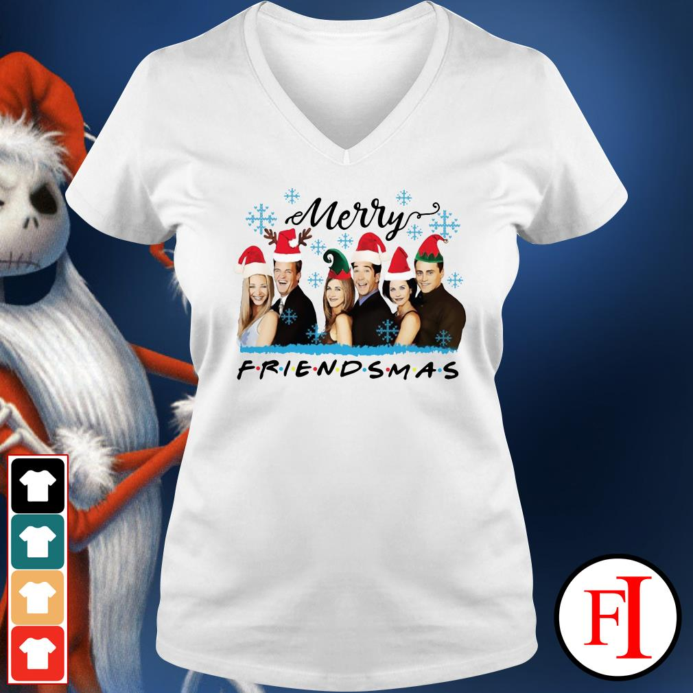 Official Merry Friendsmas V-neck t-shirt