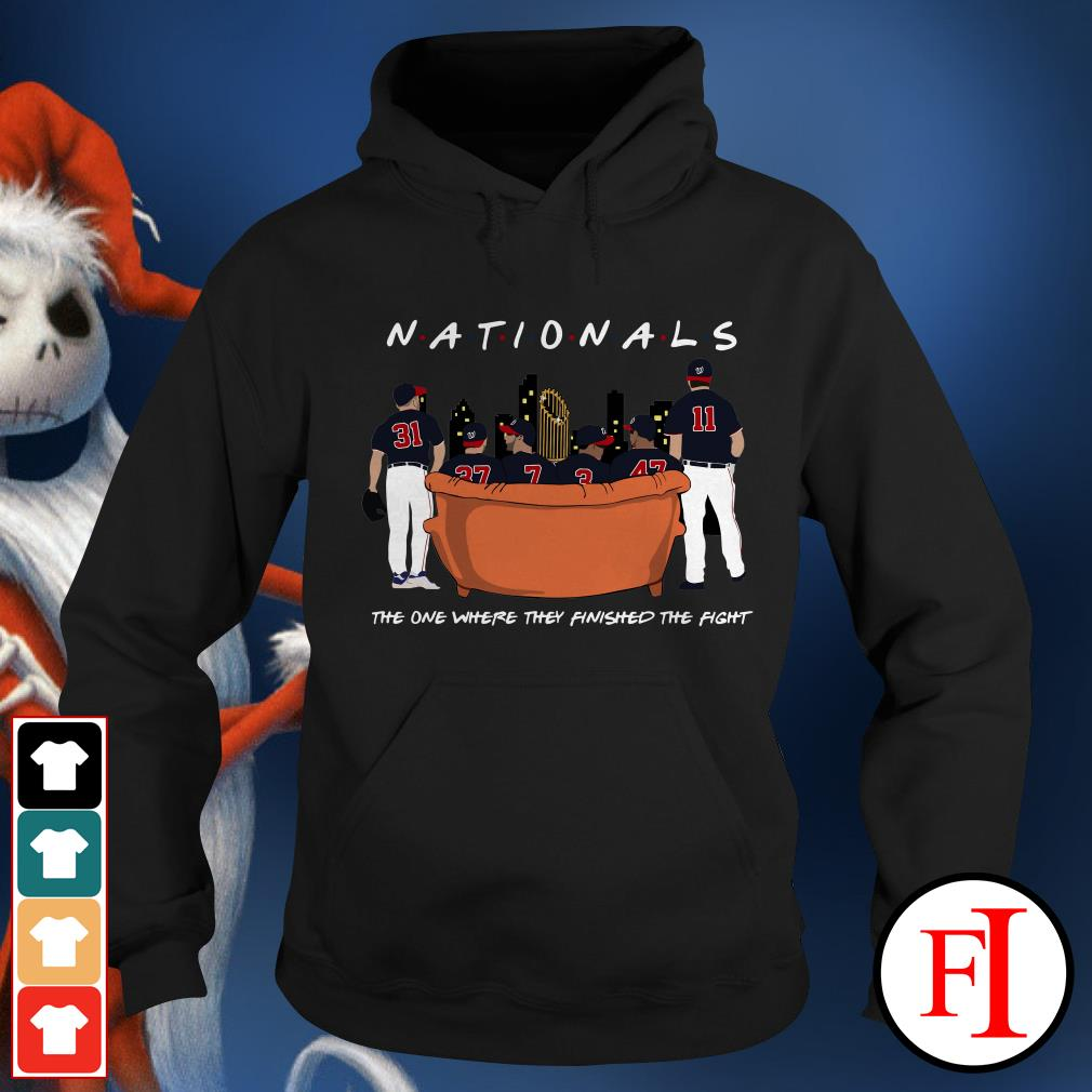 Official Nationals the on where they finished the fight Hoodie