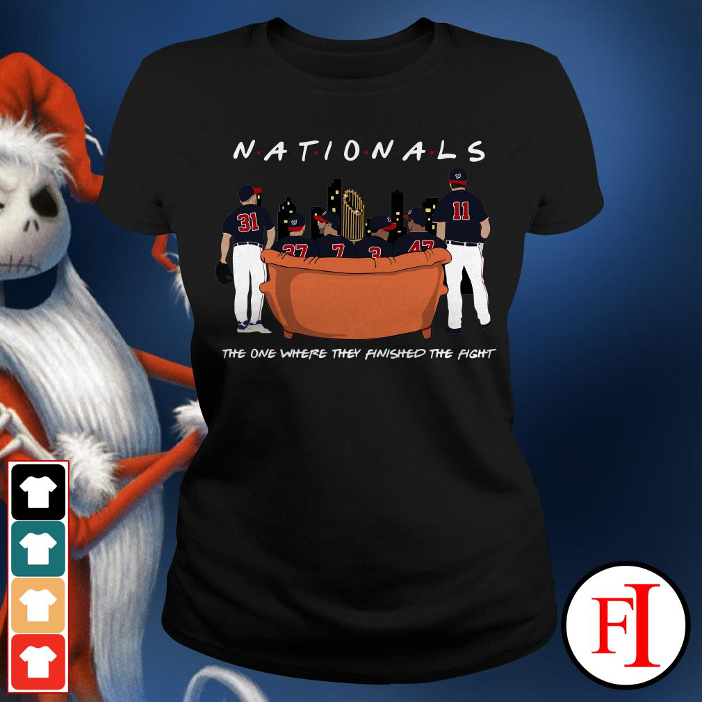 Official Nationals the on where they finished the fight Ladies Tee