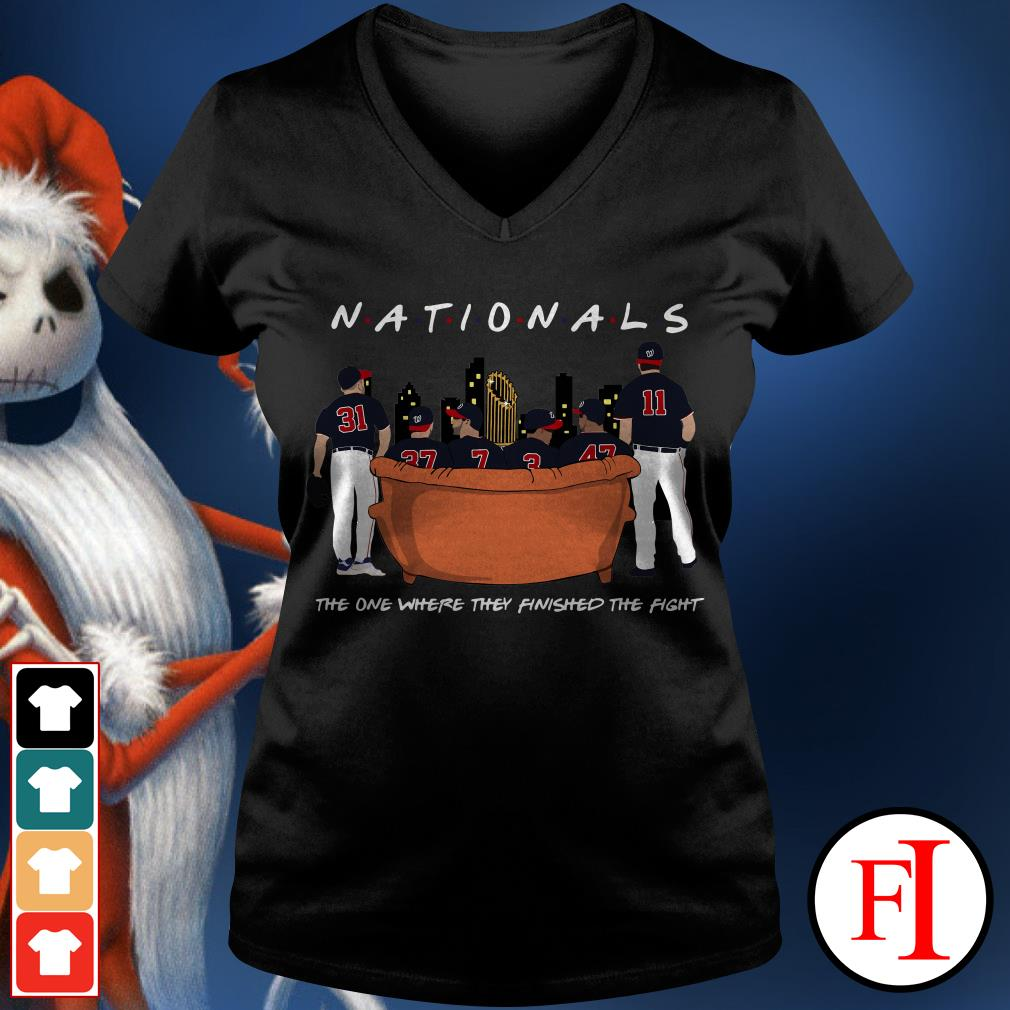 Official Nationals the on where they finished the fight V-neck t-shirt