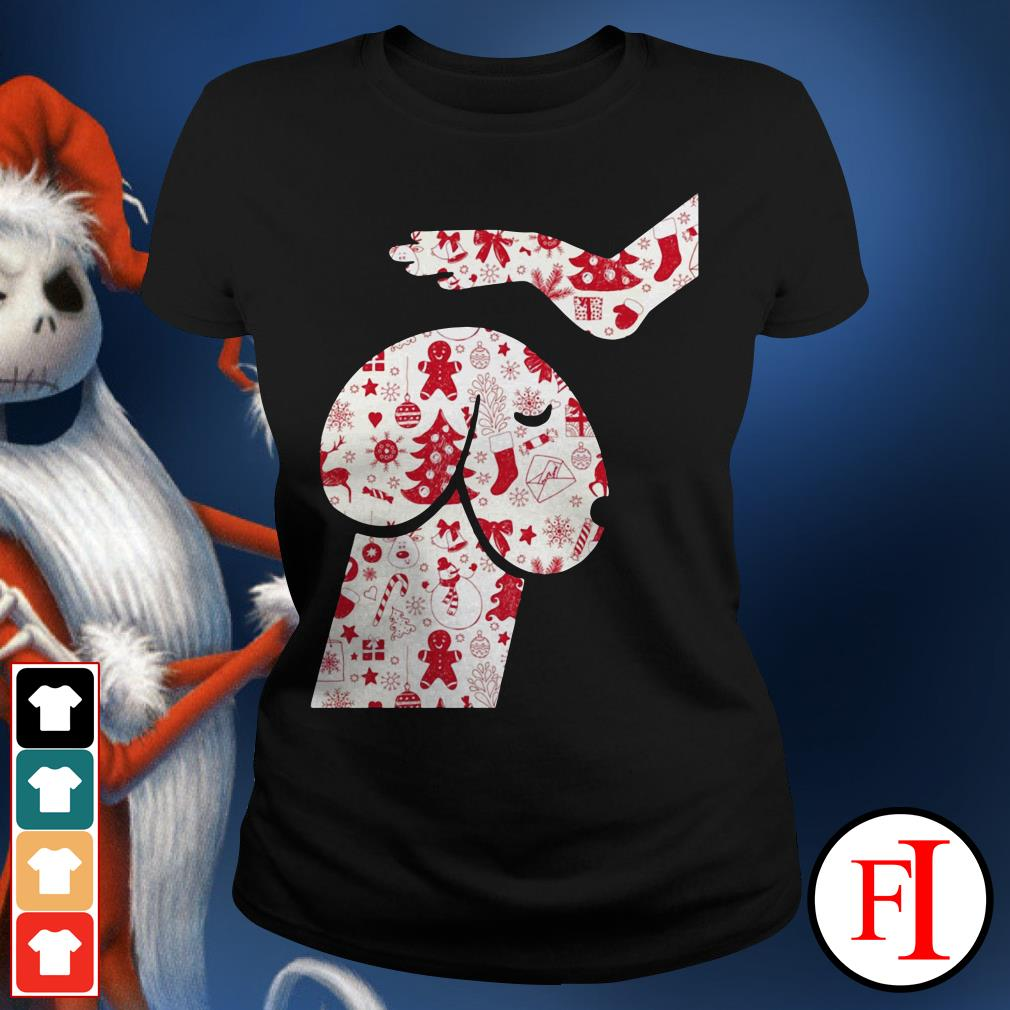 Official Penis dog Christmas Ladies Tee