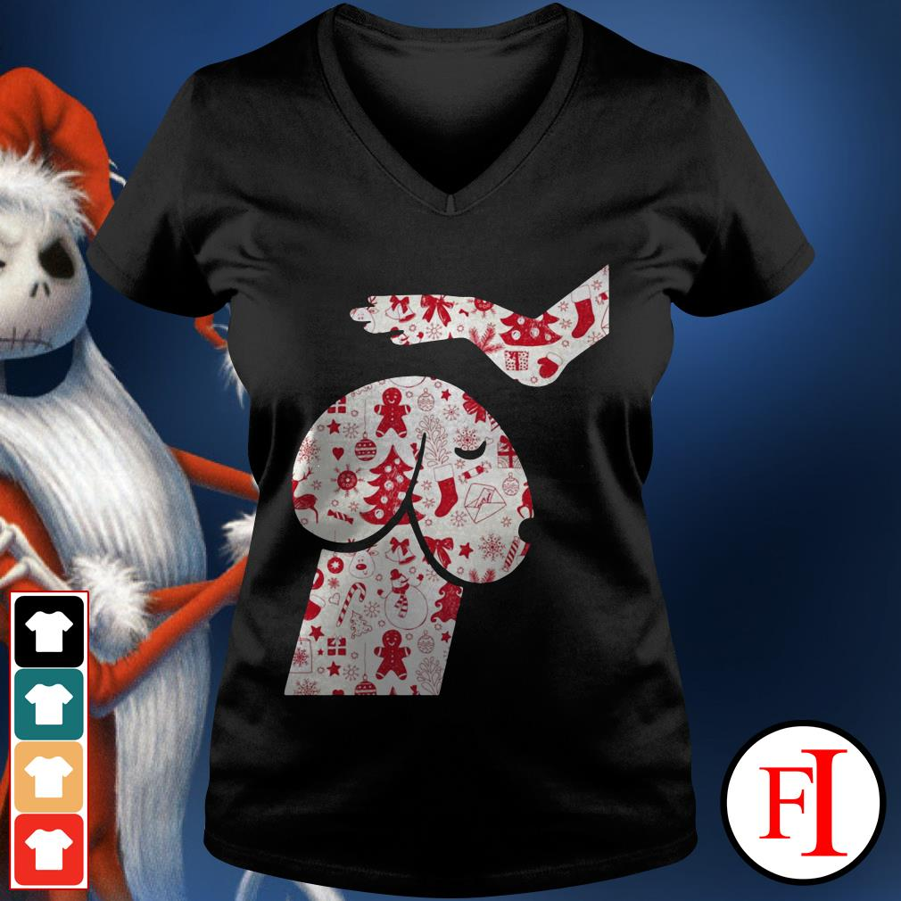 Official Penis dog Christmas V-neck t-shirt