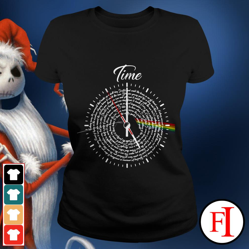 Official Pink Floyd Lyrics time Ladies tee