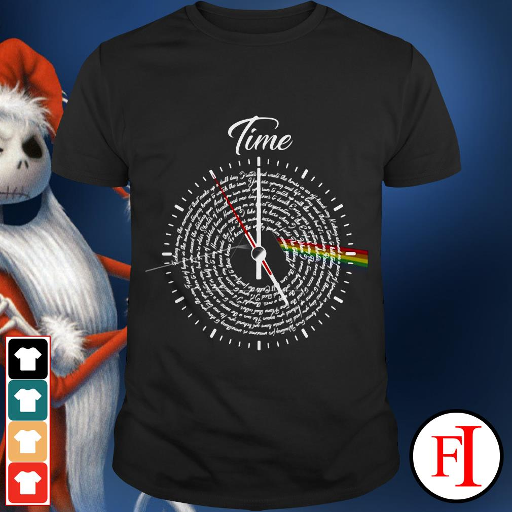 Official Pink Floyd Lyrics time shirt
