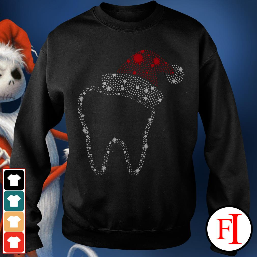 Official Teeth bright rhinestone Christmas Sweater
