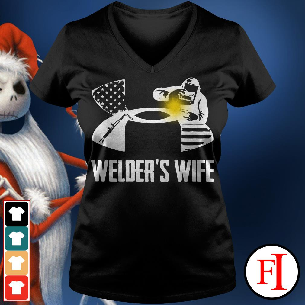 Official Under Armour welder's wife V-neck t-shirt