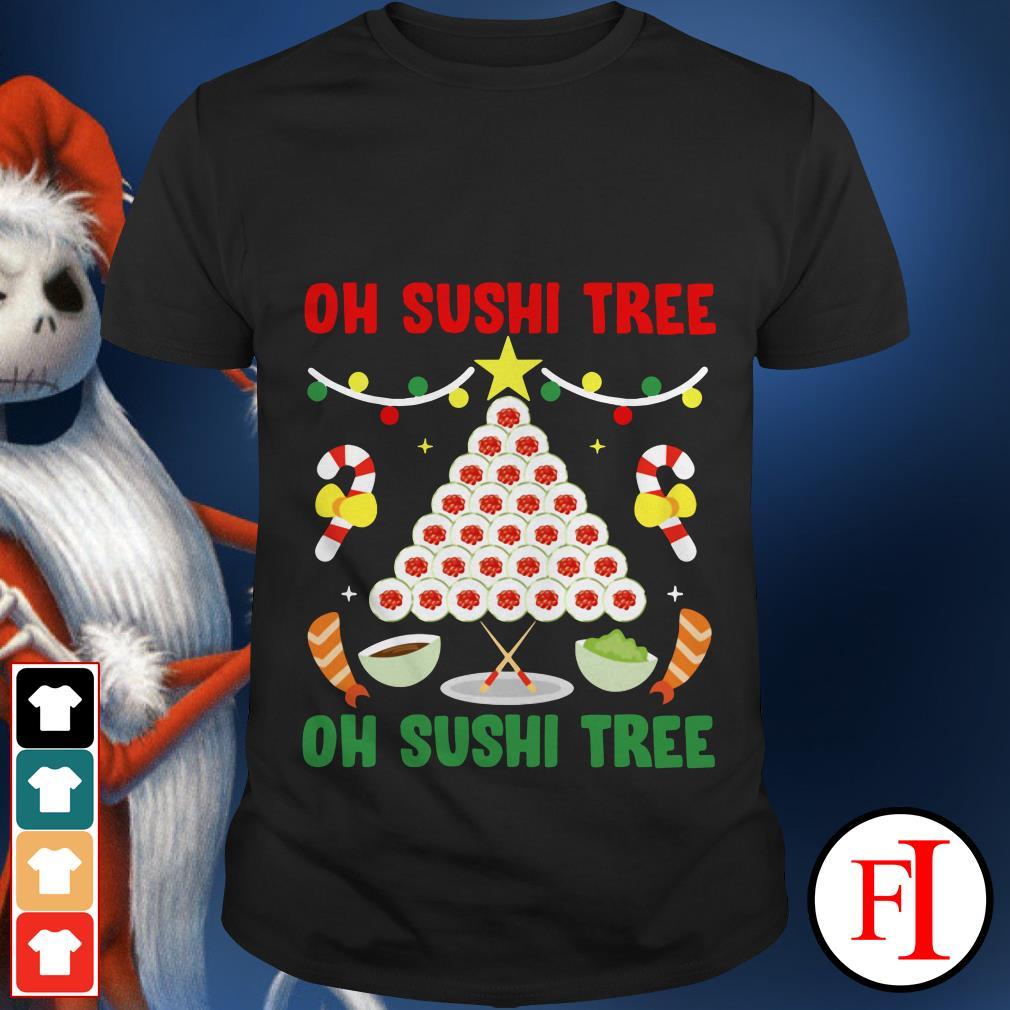 Oh Sushi tree Merry Christmas shirt