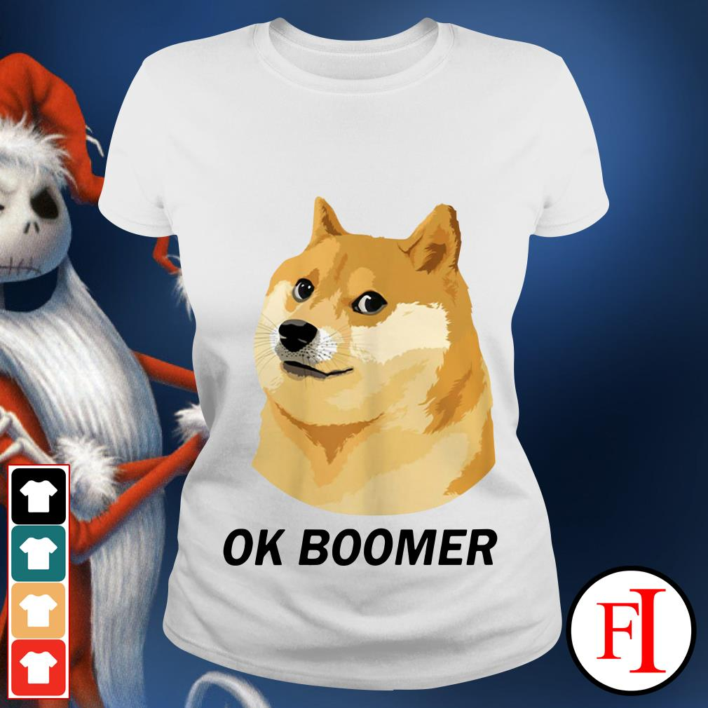 Ok Boomer Funny Dog Ladies tee