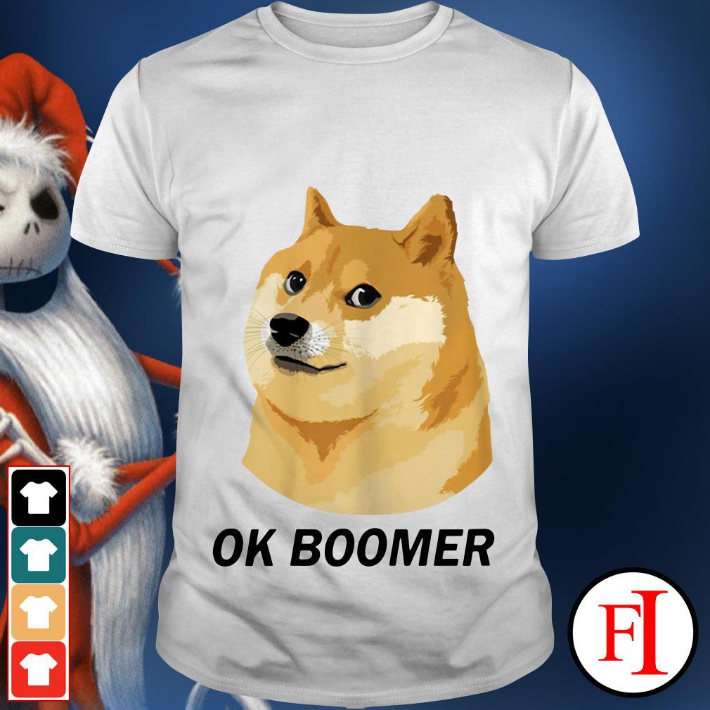 Ok Boomer Funny Dog shirt