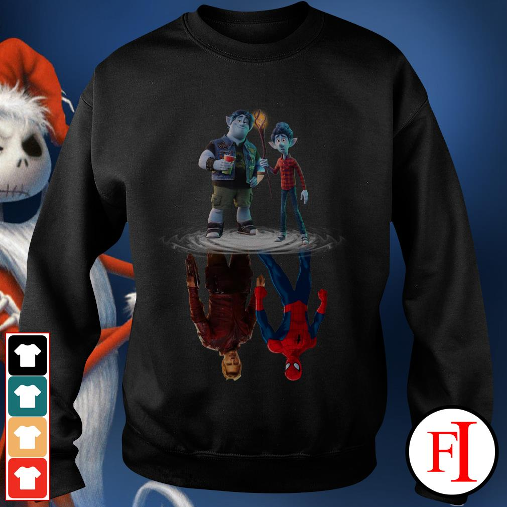 Onward water reflection mirror Star Lord and Spiderman Sweater