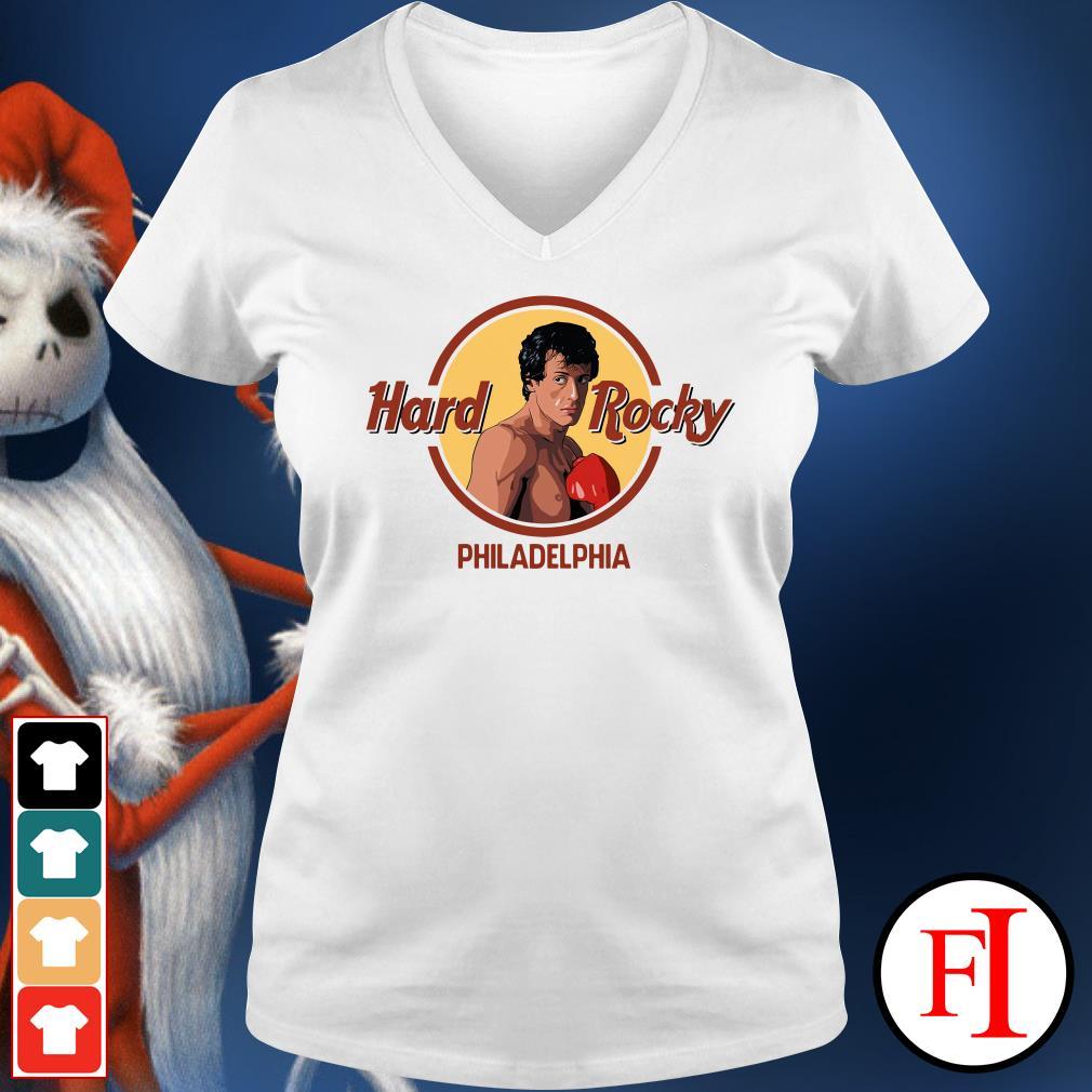 Philadelphia Hard Rocky V-neck t-shirt