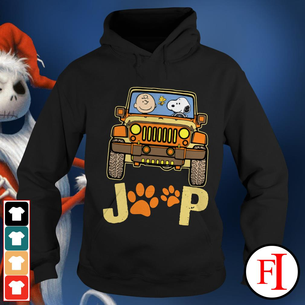 Snoopy Jeep paw and Charlie Brown dog Hoodie