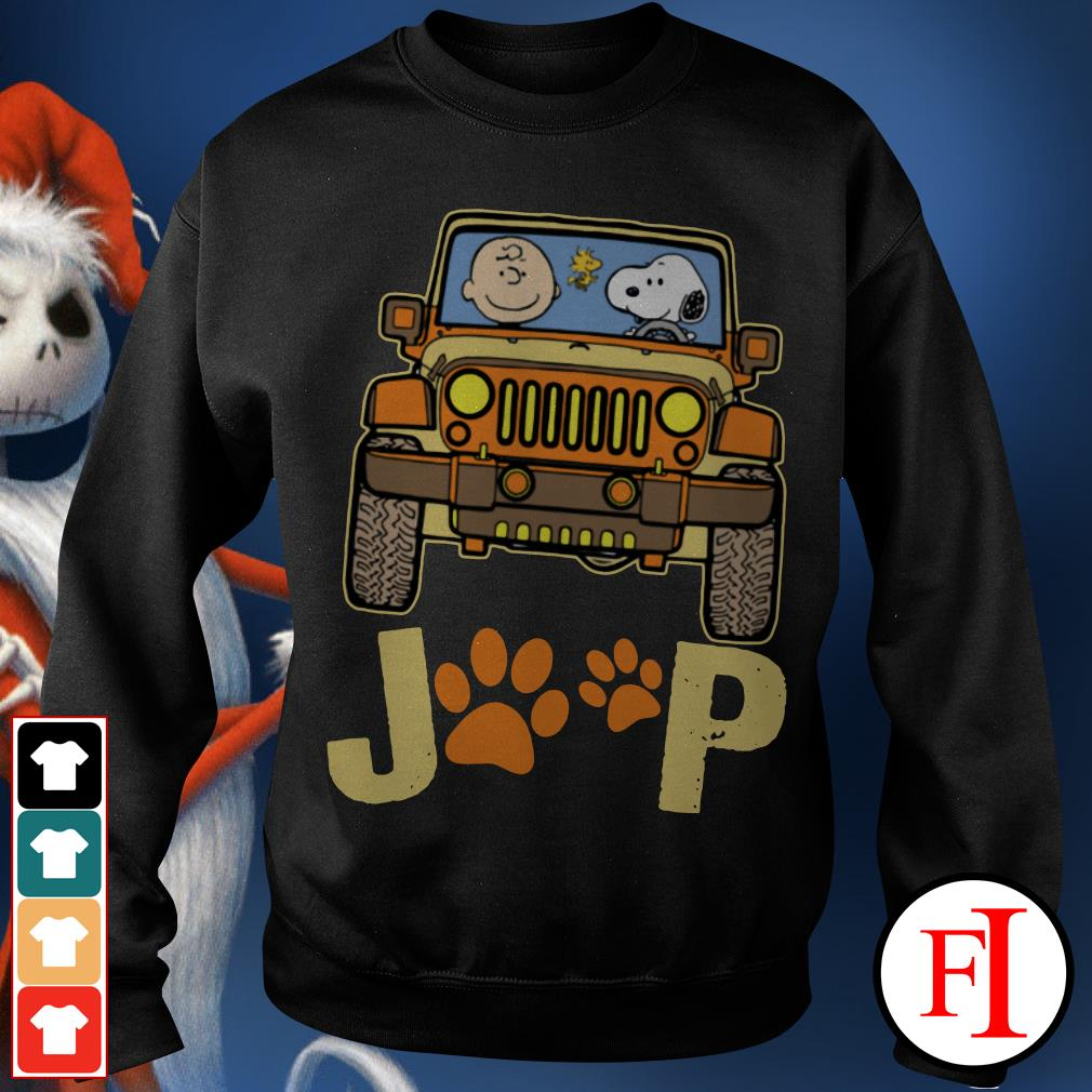 Snoopy Jeep paw and Charlie Brown dog Sweater