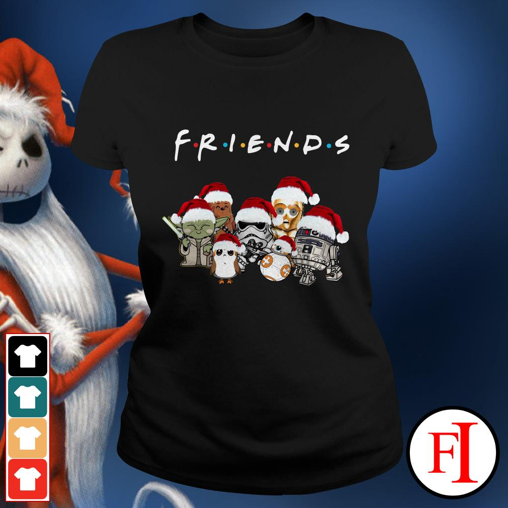 Star Wars chibi characters Christmas Friends Ladies Tee